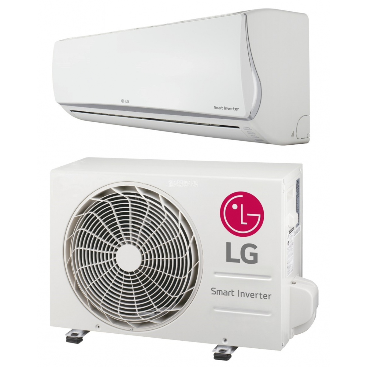 lg gloss white ductless heat pump from lg buy and install from the company airgreen. Black Bedroom Furniture Sets. Home Design Ideas